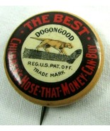 c 1900 Celluloid Pinback Button Badge DOGONEGOOD Childrens Hose Hunting... - $38.22