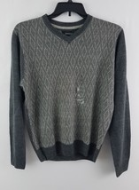 Weatherproof Men's V-Neck Diamond Pullover Sweater Gray S - $16.99