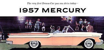Primary image for 1957 Mercury Monterey Convertible - Promotional Advertising Poster
