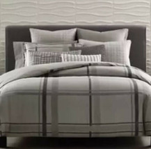 Hotel Collection Modern Plaid Full Queen Duvet Cover - Read - $61.75