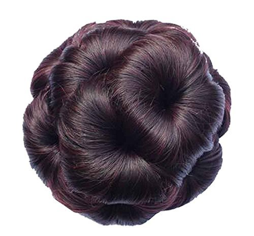 Primary image for Fake Hair Bun with Hair Clip, Easy to Wear [Red Wine]