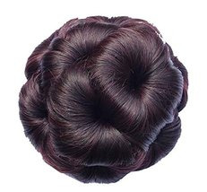 Fake Hair Bun with Hair Clip, Easy to Wear [Red Wine] - $14.03