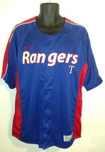 Texas Rangers Baseball Jersey Shirt Men's Large Blue Dynasty Series MLB ... - $29.67