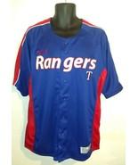 Texas Rangers Baseball Jersey Shirt Men's Large Blue Dynasty Series MLB ... - $29.67
