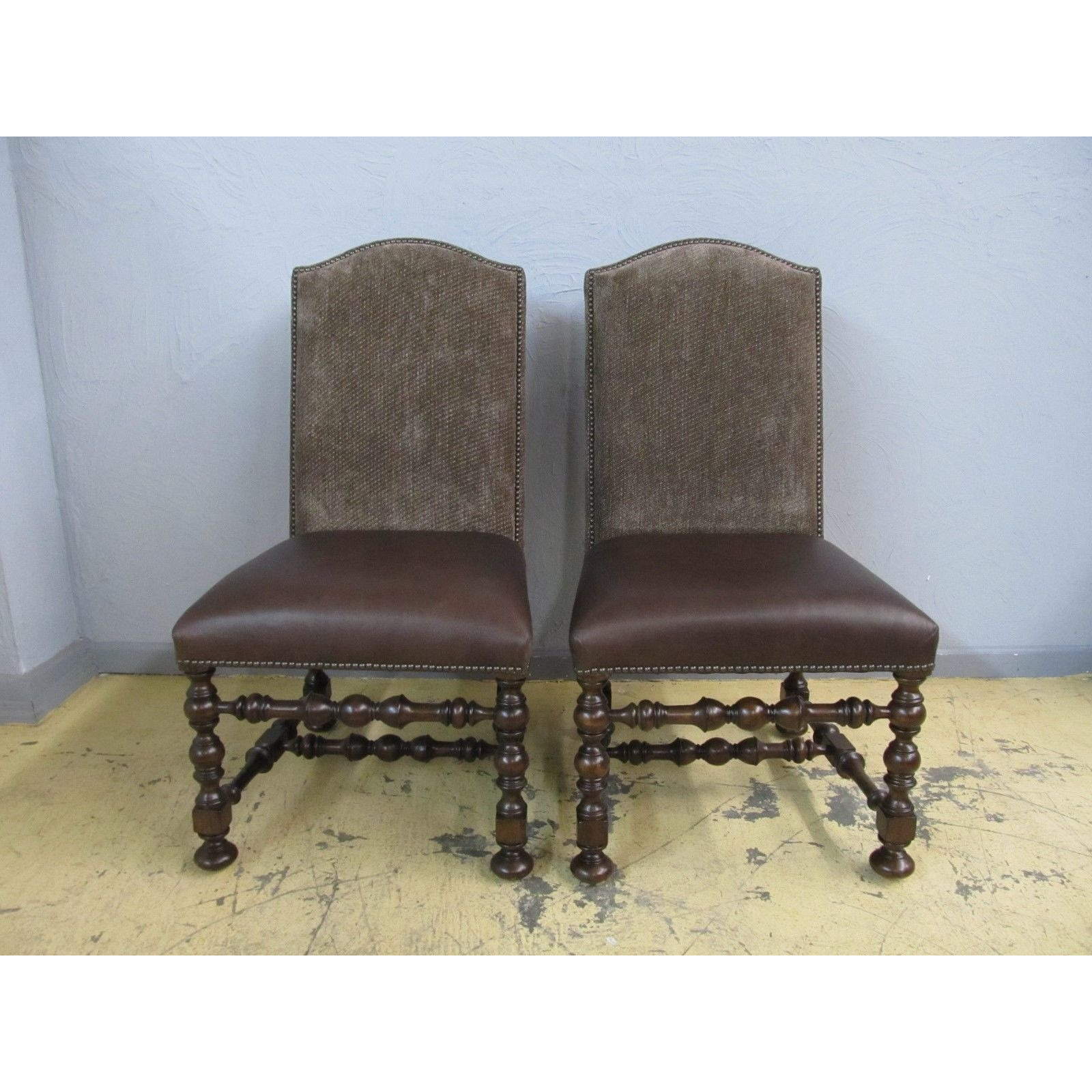 2 Thomasville Ernest Hemingway Maestro Upholstered Side Dining Chairs  84421 891   $999.00