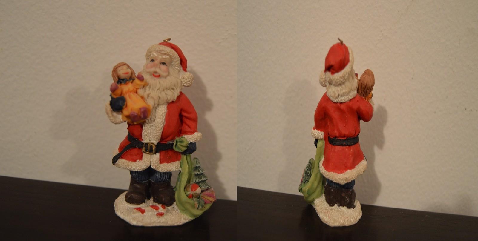 5 Santa Figurine ~ Santa Statues ~ Santa Claus Figurine ~ Saint Nick Statue