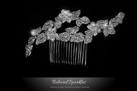 Nikki Art Deco Flower Hair Comb | Swarovski Crystal - $69.95