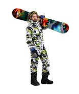 SAENSHING winter ski suit men one piece snow jumpsuit waterproof thick w... - $176.34