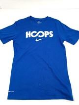 Nike Dri-Fit Boys Youth T-Shirt Hoops Basketball Sz S / M Blue Athletic Cut New - $14.46