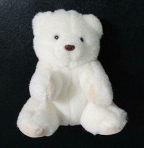 "Rare Collectors 1989 GUND 6"" White Baby Teddy Bear Small Snout Soft Vintage - $29.88"