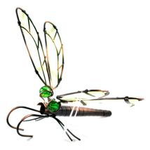 Glow in the Dark Wings Wire Dragonfly Pot Sitter Planter Hanger Garden Decor image 4