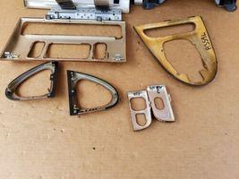 00-03 Jaguar XK8 XKR 8pc Wood Grain Dash Console Switch Trim Set image 12