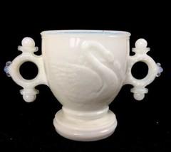 "Antique EAPG Milk Glass Swimming Swan Pattern Glass Sugar Bowl3-1/2"" Tal... - $37.36"