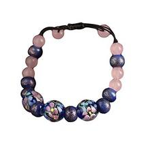 Blue Flora Vintage Colored Glaze Agate Bracelets Chinese Style Charm Bracelets image 2