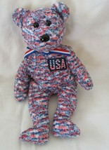 Ty Beanie Baby USA Bear NO TAG - $4.94