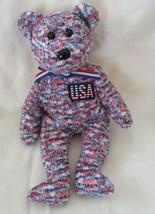 Ty Beanie Baby USA Bear NO TAG - $4.94