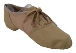 "Capezio 358 Tan Adult Women 5 (fits 3.5) ""Split Sole Jazz"" Lace Up Jazz ... - $14.99"