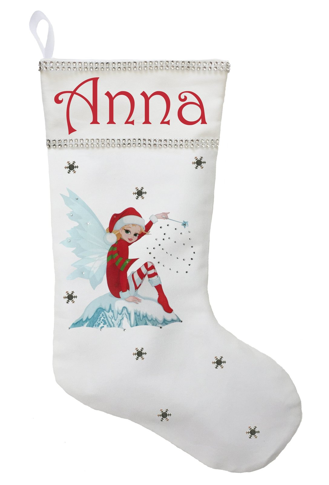 Fairy Christmas Stocking - Personalized and Hand Made Fairy Stocking