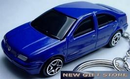 KEY CHAIN DARK BLUE VW JETTA/BORA VOLKSWAGON NEW CUSTOM KEY RING by SPEE... - $38.94