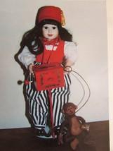 """ANGELA"" World Gallery Doll by VINCENT 16"" MUSICAL ORGAN W/MONKEY - $49.50"