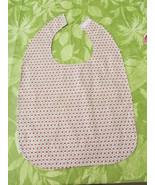 Handmade Adult Bib Scotchgard Treated White,Rose and Pink Calico Print - $9.99