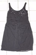 W11780 Womens OLD NAVY black sequin TANK DRESS, drawstring waist, size XS - $26.06