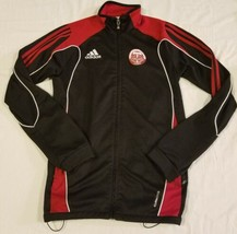 Adidas Portland Timbers Alliance Black and Red Track Jacket Climacool Vancouver - $31.35