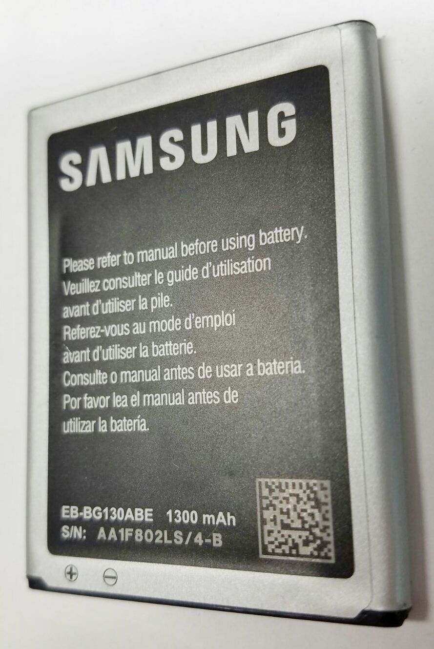 Primary image for OEM Orignal Samsung Battery for Galaxy Star 2 Duos Young EB-BG130ABE  1300mAh