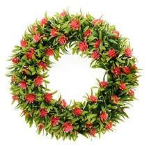 Saim Front Door Wreaths Artificial Flowers Garland for Indoor Outdoor Ho... - $21.69