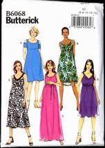 Unc Sz 6 8 10 12 14 Easy Maternity Dress Butterick 6068 Pattern Bust 30 ... - $6.99