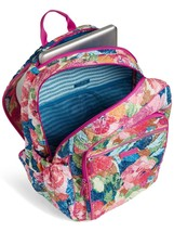 Vera Bradley Quilted Signature Cotton Iconic Campus Backpack, Superbloom image 3