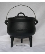 Cauldron Cast iron 3 QT Bean Pot Sz 1 Potjie pot Gypsy Pot Dutch oven Su... - $80.00