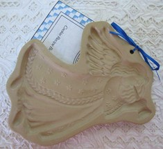 Vintage Brown Bag Angel Gabriel Ceramic Mold 1995 Cookie Paper Chocolate... - $11.99