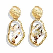 Earrings New Creative Retro Drop Oil Shell Korean For Women Resin Round Dangle - $6.35