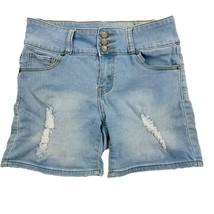 AQ Jeans Denim Shorts Women's Juniors Size 11, Light Wash Blue, Distressed - $8.98