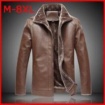 Plus Size Men's Autumn Winter Thermal Fur Warm Jacket Sheepskin Jacket Wool Line