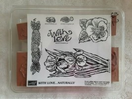 Stampin Up Stamp Set 2000 With Love....Naturally New in Box Floral Designs  - $14.84