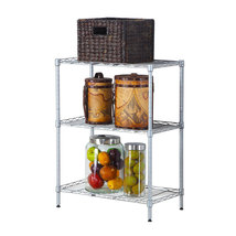 Concise 3 Layers Carbon Steel & PP Storage Rack Silver - $27.62