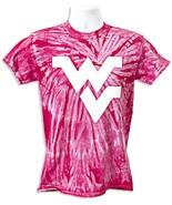 West Virginia Mountaineer's Logo Hot Pink Swirl T-Shirt - $14.43 - $15.19