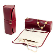 Bey Berk RED Leather Jewelry Roll w/Zippered Compartments Watches/Bracelets - $48.95