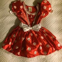Euc Disney Store Minnie Mouse Red Polka Dot Halloween Costume Sz Xxs 2/3T - $25.99