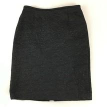 Tahari Arthur S Levine Womens Black Lined Floral Brocade Skirt Size 8 - $30.84