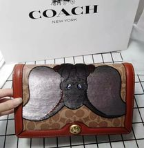 Coach 1941 X Disney Riley Embellished Dumbo Signat Cross Body Bag - Tan ... - $384.37