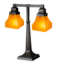 "20""H  Bungalow Frosted Amber 2 Arm Desk Lamp - 111803 - £196.47 GBP"