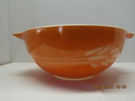 Pyrex, Autum Harvest (Wheat) 2.5 Liter Cinderella Nesting Bowl, Red, 1980s - $14.85