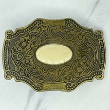 Bronze Tone Floral Flowers Belt Buckle - $19.34