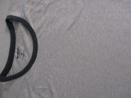 Arizona Jeans Men T Shirt 2XL Beige Solid Crew Cotton Polyester 17111 image 3