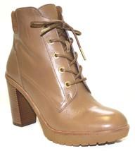 Women's Shoes Michael Kors KIM LACE UP BOOTIE Heels Boots Leather DK CAR... - £83.73 GBP