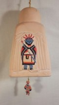 Southwestern American Indian Wind Chime Bell - Sculpted Clay Adobe  - $24.27