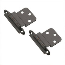 Amerock BPR3417ORB Non-Self-Closing Inset Hinge, Oil-Rubbed Bronze 3/8in 2 pack - $5.99